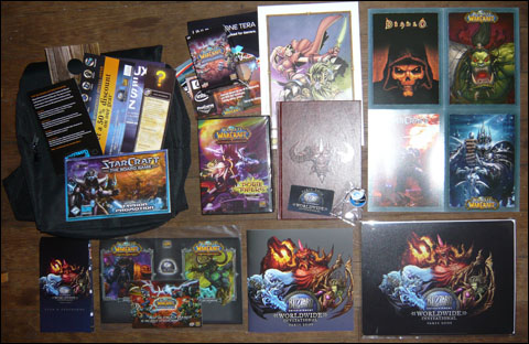 Contenu du sac � dos Blizzard WorldWide Invitational 2008 (goody bag)