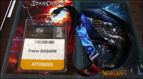 Badge et tour du cou Blizzard WorldWide Invitational 2008